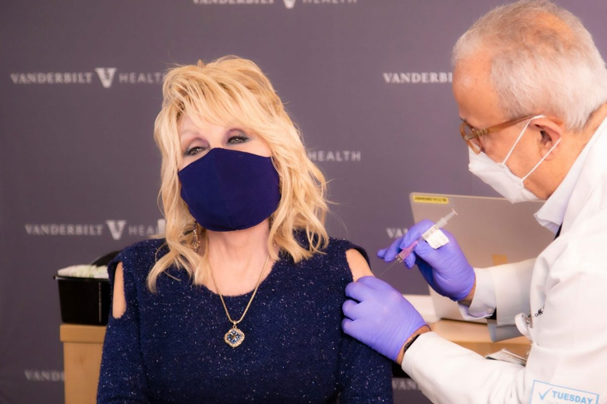 Celebrities Wore High-Fashion Outfits While Getting Vaccinated